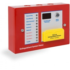 Kentec Sigma A-SI, K1821-17 6 Lamp Status Unit with Mode Select Keyswitch & Manual Release Surface Mount - Red