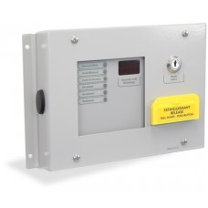 Kentec Sigma Si Extinguishant Status Indicators, K911110M8 6 Lamp Status Unit with Mode Select Keyswitch and Manual Release Surface